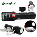 Super Brigh Zoom 5 Mode CREE XM-L2 T6 LED USB Rechargeable Flashlight Torch Lamp 170118