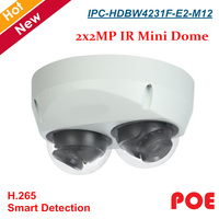 New PTZ Camera IPC HDBW4231F E2 M12 2x2MP IR Mini Dome Network Camera Built in Mic H.265 Support SD Card Mini dome Security cam