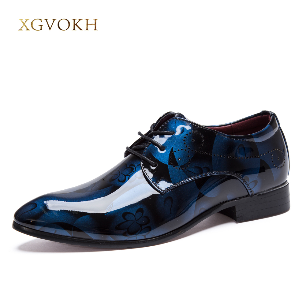 Men Dress Oxfords Size 37-48 Plus British High Quality Pointer Toe Rubber Korean Style Business PU Leather Fashion Men Shoes
