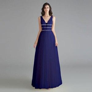 Image 3 - יופי אמילי אלגנטי שושבינה שמלות V צוואר שרוולים פאייטים אפליקציות המפלגה שמלת 2019 ארוך ורוד לנשף שמלות לחתונה