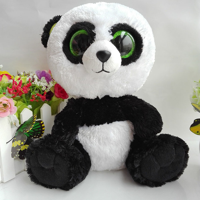 25cm 10 inch Ty Beanie Boos bamboo Panda Plush Toy Stuffed Animal Doll  Bamboo Soft Kids Toy Birthday Gift Hot c90f71ad128a