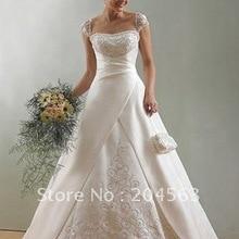 Лидер продаж Вышивка линии невесты Свадебные платья любой размер/цвет