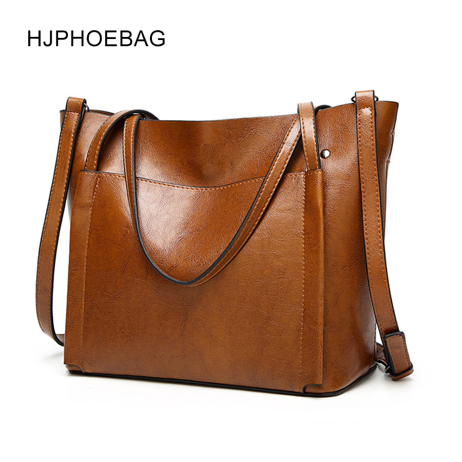 HJPHOEBAG Brand Women Leather Handbags Lady Large Tote Bag Female Pu High Quality Shoulder Bags For Woman Bolsos YC006