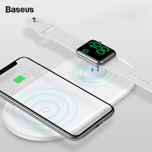 Baseus Qi Wireless Charger For Apple Watch 4 3 2 1 iWatch 2in1 Fast Wireless Charging Pad For iPhone XS Max X 8 Samsung S10 S9(China)