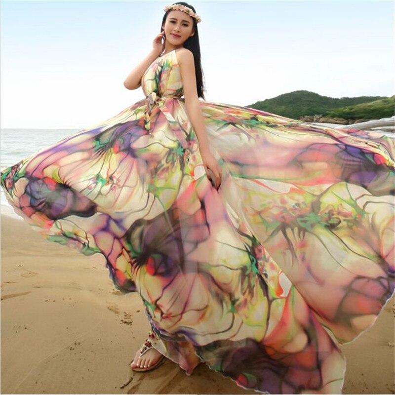 c4181ef8d77c 2016 Fashion Maternity clothes Boho Dress Printed Halter Style Sleeveless  Maxi Dress Summer Dress Plus Size Women Beach Dress