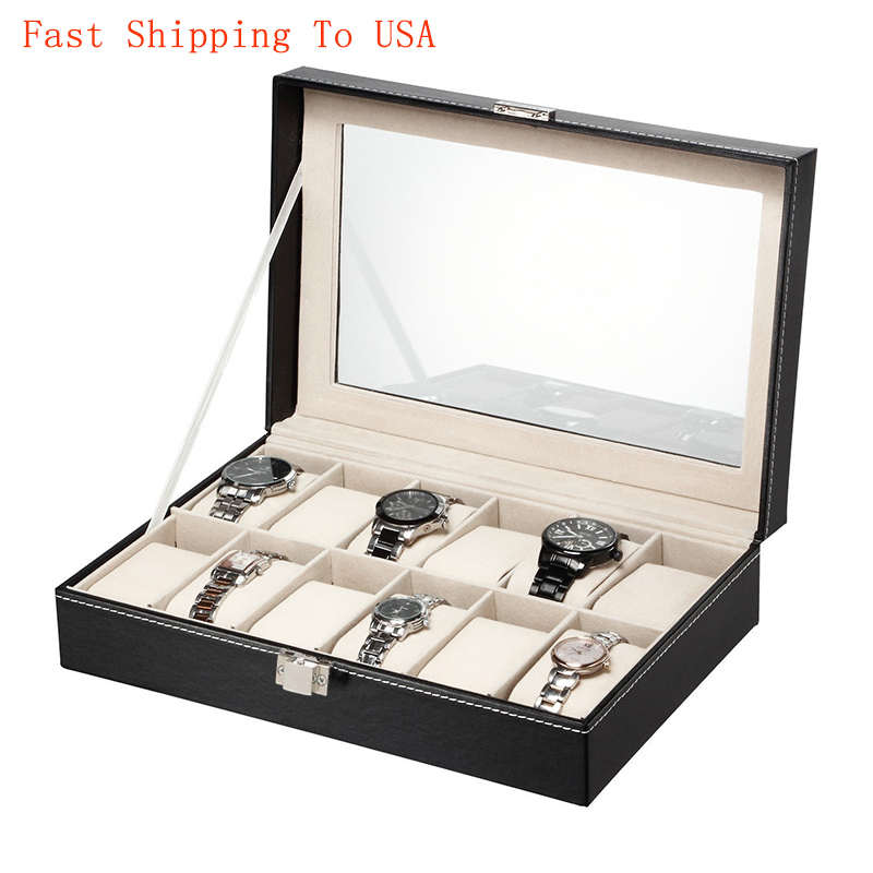 Organizer For Professional-Holder Clock Case Watches Jewelry Sotage-Boxes Black High-Quality