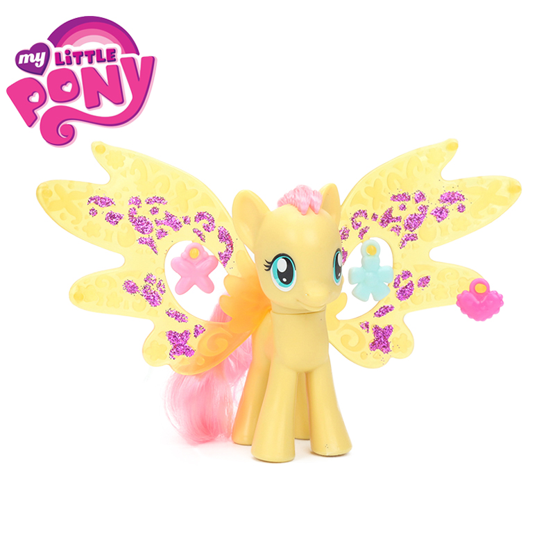 My Little Pony Toys Cutie Mark Magic Friendship Charm Wings Fluttershy Honey Rays Rainbow Dash Action Figures Collectible Model майка классическая printio my little pony rainbow dash