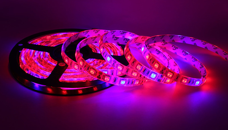 GBKOF 5M LED Plant Grow Lights grow strip Waterproof 5050 Hydstems growing 300LEDs Full spectrum Growth plant light Red Blue 41(21)