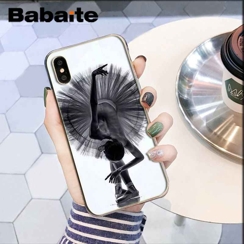 Babaite สาวเต้นรำบัลเล่ต์หรูหราออกแบบโทรศัพท์ที่ไม่ซ้ำกันสำหรับ iPhone 8 7 6 6S Plus 5 5S SE XR X XS MAX Coque Shell