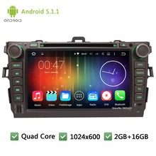 Quad core Android 5.1.1 2Din 8″ WIFI DAB+ 1024*600 Car DVD Player Radio Stereo PC Audio Screen GPS For TOYOTA Corolla 2006-2011