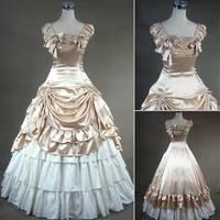 Free Shipping 2016 Elegant Purple Floral Print 18th Century Marie Antoinette Ball Gowns Hand Made Victorian