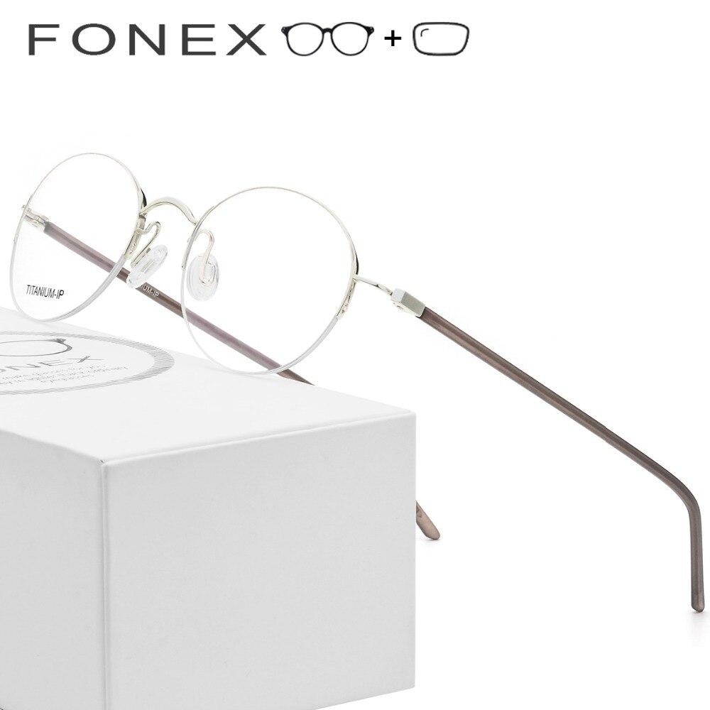Männer Rahmen Runde Optischen Rezept Designer Reinem 9124 Retro Eyewear Titan Marke Brillen Frauen Vintage 1qzxwYq
