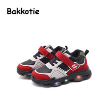 84f9d4484d7cc Bakkotie 2018 Autumn Fashion Children Sport LED Light Shoes Baby Boy Brand  Casual Sneaker Toddler Mesh Red Shoe Kid Girl Trainer