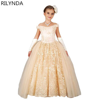 New Flower Girl Dresses for Weddings 2019 Sheer Neck Lace Ball Gown Little Girls First Communion Pageant Gowns 2018 new lovely princess baby girl flower girls dresses sheer lace crew neck appliques formal girl s pageant dresses