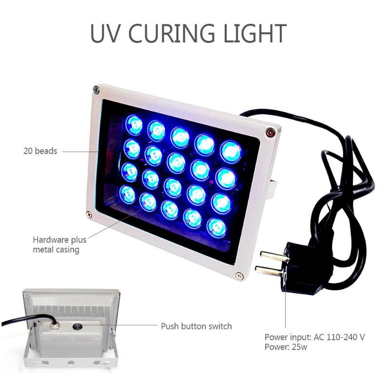 25W Ultraviolet Fast Curing Light Mobile Phone Repair UV Glue Cure LED Lamp Support Dropshipping