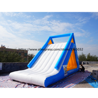 PVC Material Floating Water Slide/Water Park Inflatable Aqua Park Water Slide for sale