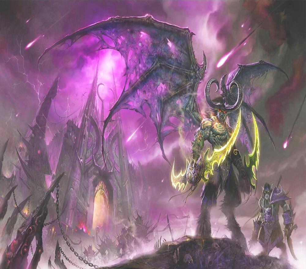 Decorative Wallpaper World Of Warcraft Illidan Wall Paintings In