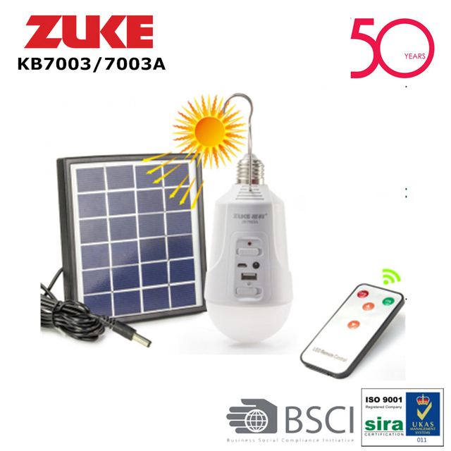 ZUKE Wiederaufladbare Outdoor Solar Licht Dimmbar E27 Led lampe ...