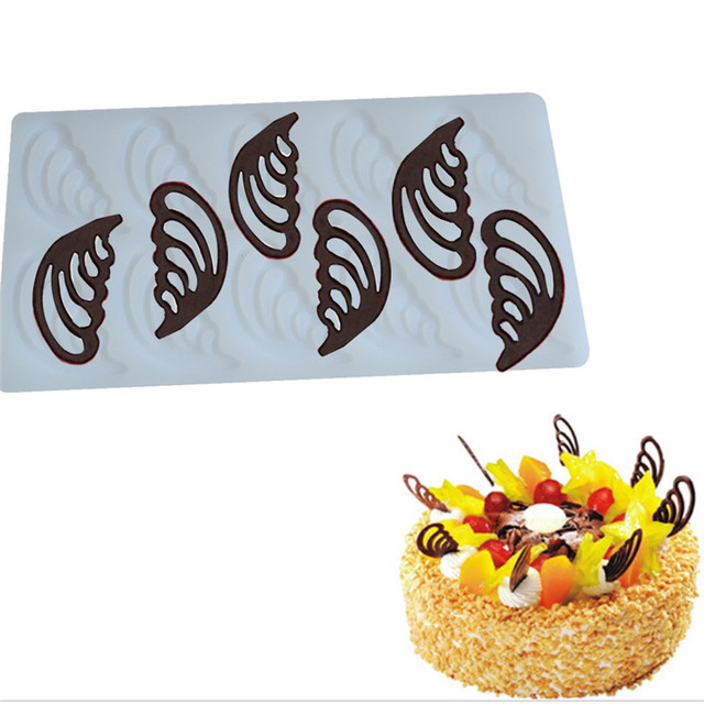 Silicone Wing Mold Chocolate Wedding Cake Decorating Tools Diy Fondant Baking Mould Stencil Kitchen
