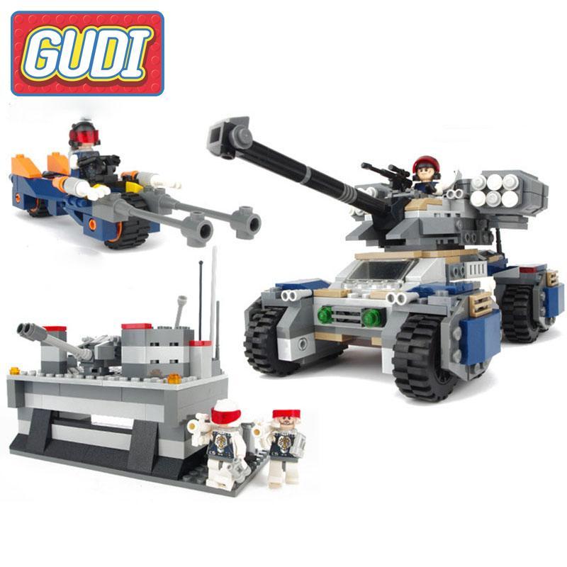 GUDI Earth Border Series1 Block Toys Compatible With Tank Castle Technic Action Building Model Kits Children Birthday Gifts gudi earth border blocks children