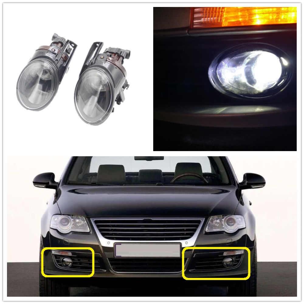 Mobil Lampu untuk VW Passat B6 3C 2006 2007 2008 2009 2010 2011 Halogen Lampu Kabut dengan Lensa Cembung Kabut penutup Lampu Harness Assembly