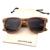 Feitas à mão Óculos Polarizados Óculos De Sol De Madeira Zebra Óculos De Sol De Madeira Natural Zebrawood Moda Estilo Casual Ao Ar Livre Marrom Cinza Cor