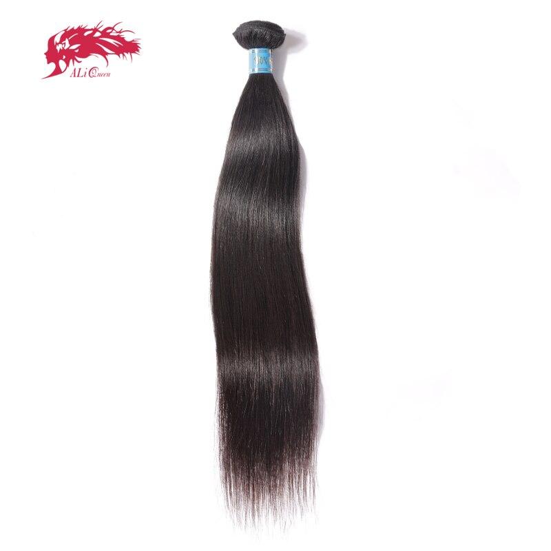 Ali Queen Hair Products Peruvian Straight Virgin Hair 1 Piece Natural Color 8~34 100% Human Hair Weave