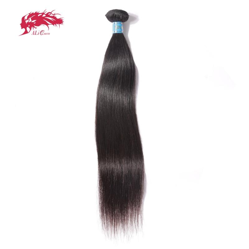 Ali Reina del pelo peruano virginal del pelo recto 1 unidades color natural 8 ~ 28 100% Cabello humano Armadura