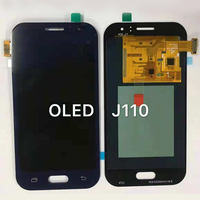 AMOLED LCD Replacement For Samsung Galaxy J1 Ace J110 SM J110F J110H LCDS Screen Display Touch Digitizer Brightness Adjustment