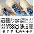 32 шт./лот ногтей штамповки DIY красоты плиты изображения трафареты штампов плиты творческие проекты польский шаблоны инструменты