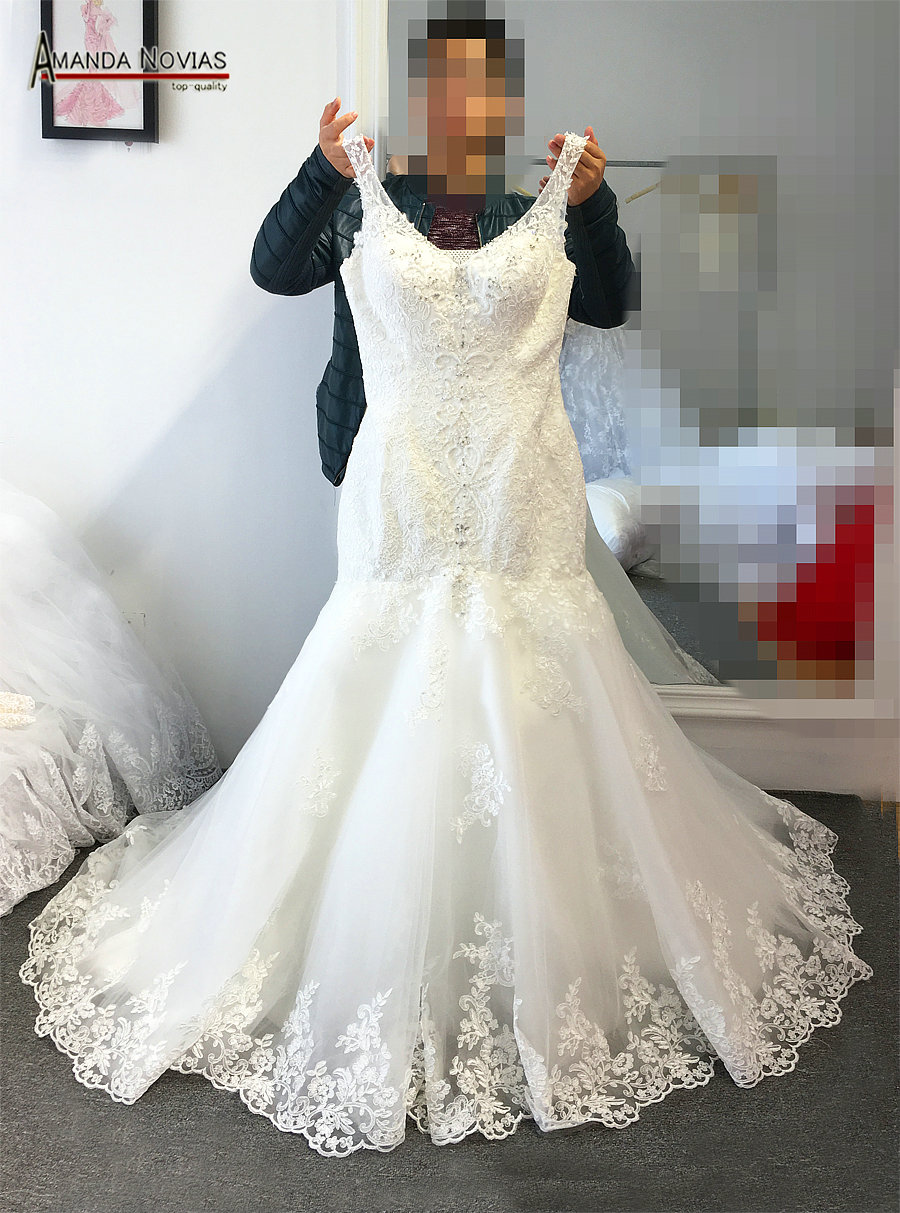 Us 339 0 Amanda Novias Real Work Wedding Dress Mermaid Style With Straps Bride In Dresses From Weddings Events On Aliexpress