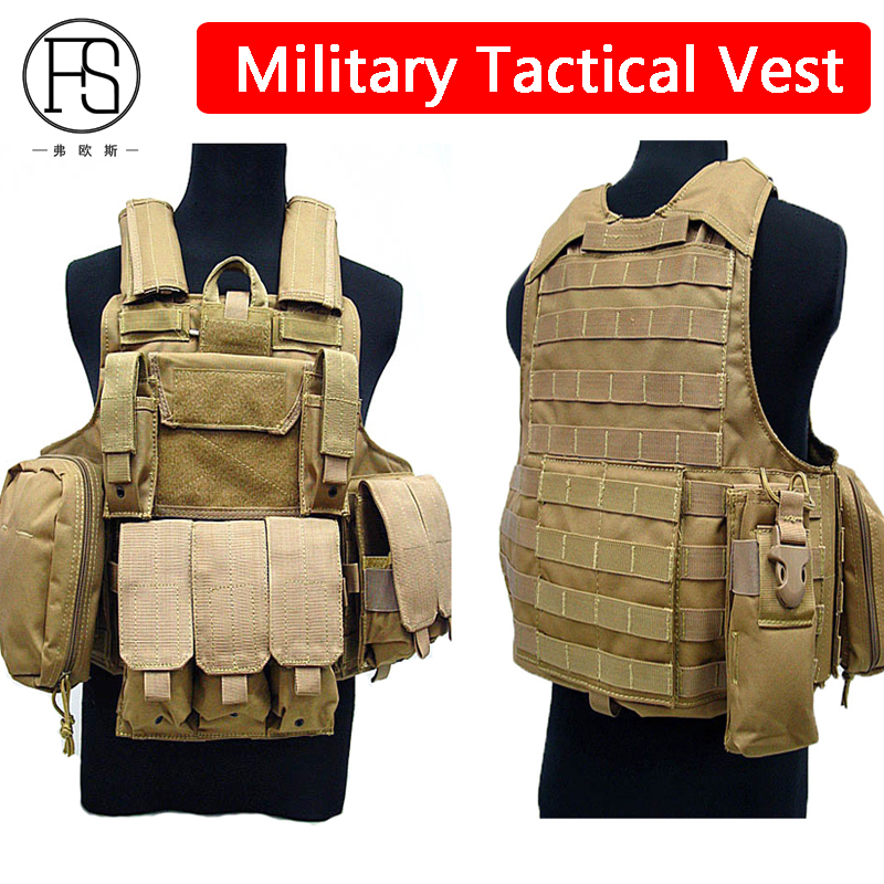 Здесь можно купить  Military Tactical Hunitng Vests Camouflage Outdoor Paintball Airsoft Gear Army Training Uniform Combat Protection Vest  Спорт и развлечения