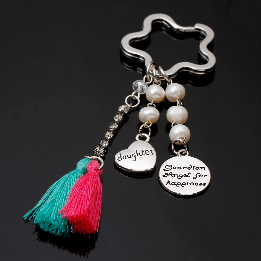 Heart Keychain For Keys Llaveros Para Llaves I Love You Mom And Dad