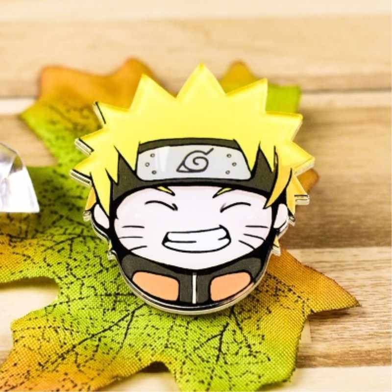 1 Pza de acrílico Anime Naruto Kakashi broches mochila y puntas de Kakashi broches de ropa broches bolsa decoración broches insignias