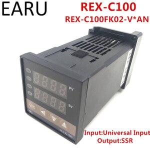REX-C100 REX-C100FK02-V * Цифровой ПИД-регулятор температуры SSR выход 0-400 градусов, Универсальный вход типа K PT100 J