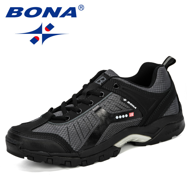 BONA 2019 New Style Hiking Shoes Lace Up Men Sport Shoes Outdoor Jogging Trekking Sneakers Man