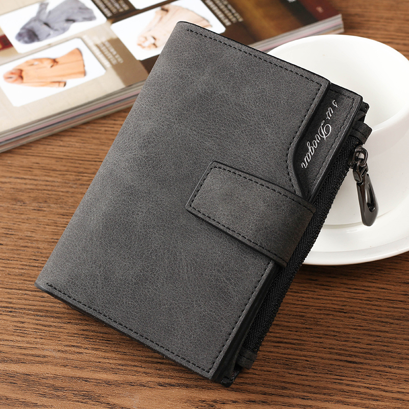 Swdvogan Short men Wallets Zipper Bifold Card Holder Cases PU Leather Wallet Hasp Pouch Quality Women's Purses New Coin Pocket new multifunction man wallets 3 colors mens pu leather zipper business wallet card holder pocket purse hot plaid pouch fashion