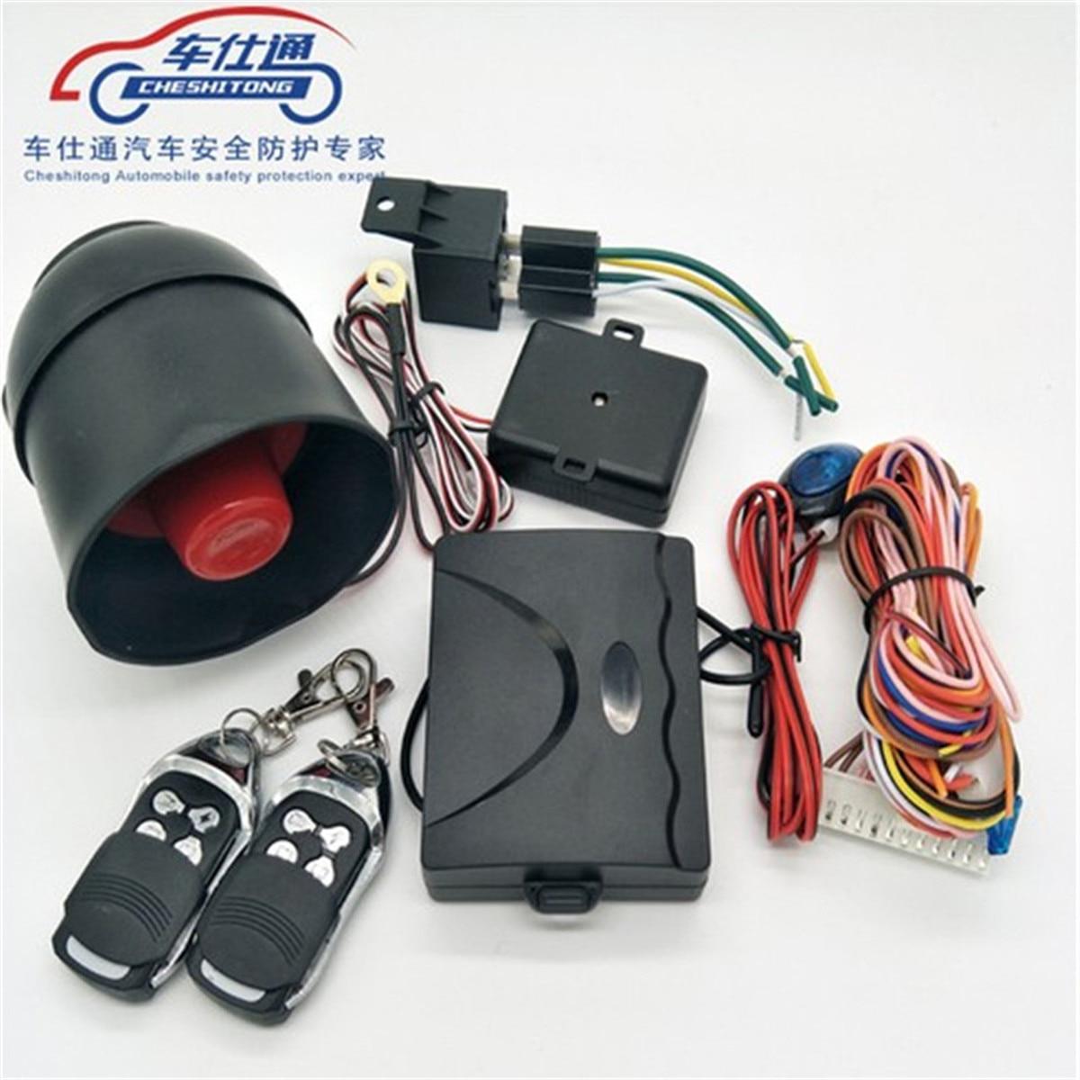 Car Vehicle Burglar Alarm Protection Keyless Security System w// 2 Remote Control