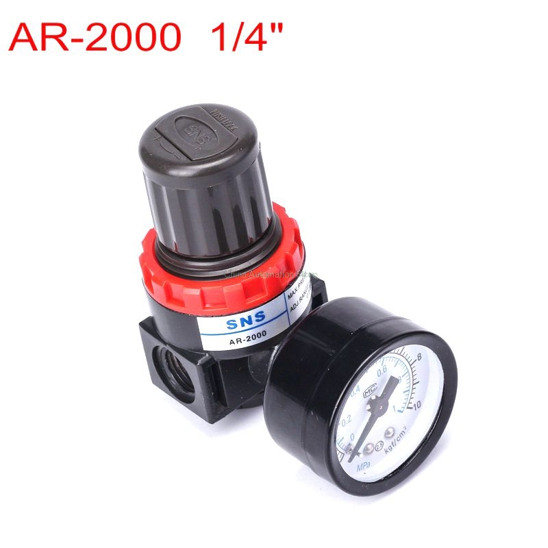 Free shipping Pneumatic parts New Air Control Compressor Relief Regulating pressure regulating valve AR2000 ar2000 1 4 pneumatic air source treatment air control compressor pressure relief regulating regulator valve with pressure gauge