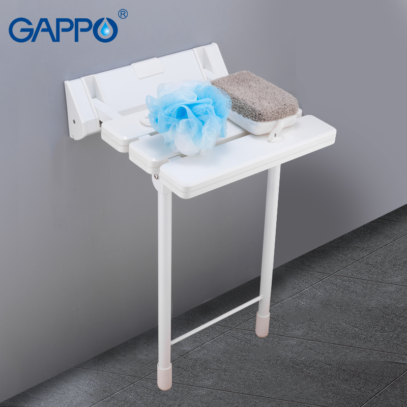 Folding Chair For Bathroom Baby Bath Mothercare Aliexpress Com Gappo Wall Mounted Shower Seats Seat Bench Toilet Stool Imall