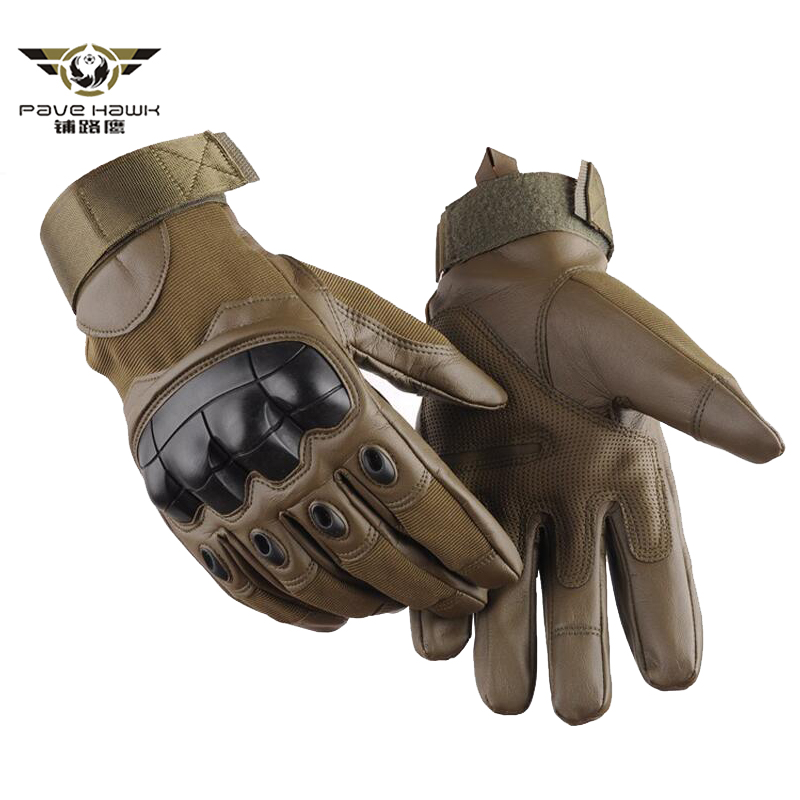 Army Tactical Finger Military Hard Knuckle Full Finger Gloves Airsoft Paintball Bicycle Shooting Protection PU Leather Men Glove