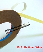 10 Rolls 8mm Wide 30M Strong Adhesive Double Oil Glue Sticky Tape For Cloth Embroider Machine