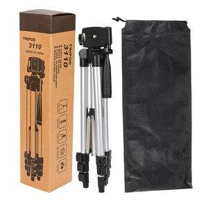 Image 5 - عالمي أربعة أرضية عالية قابلة للتعديل + طوي الحامل ثلاثي الأرجل للكاميرا والهاتف المحمول توفير حامل هاتف مع صندوق البيع بالتجزئة
