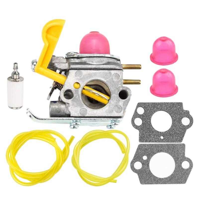Best 530071752 530071822 545081808 Carburetor With Primer Bulb Bulb Fuel Filter Line Hose Tube For Poulan Craftman Eater Strin