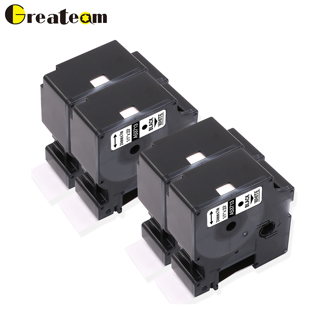 57c886eb2b6 Greateam 4 Pack 53710 Black on Clear Compatible Dymo D1 Label Tape  Cartridge for Dymo Label
