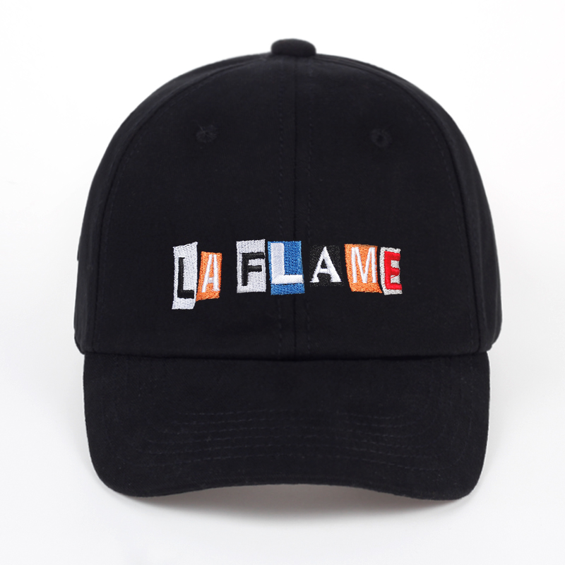 TUNICA LA FLAME embroidery Hat - Black Travis Scotts Birds in the trap sing mcknight kid dad cap men women fashion baseball cap the immortals dark flame
