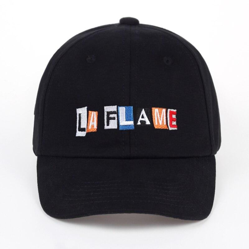 TUNICA LA llama sombrero bordado sombrero-negro Travis Scott aves en LA trampa cantar mcknight chico Gorra de las mujeres de los hombres de moda gorra de béisbol