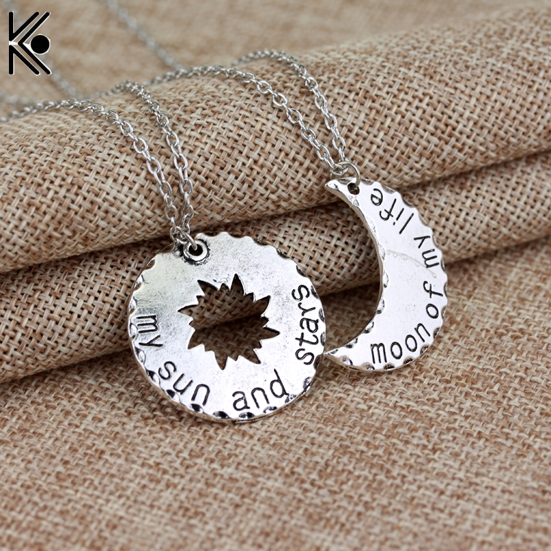 Game of Thrones Khaleesi Drogo Pendant Necklace My Sun And Stars moon of My Life maxi necklace LOVE jewelry Valentines gift