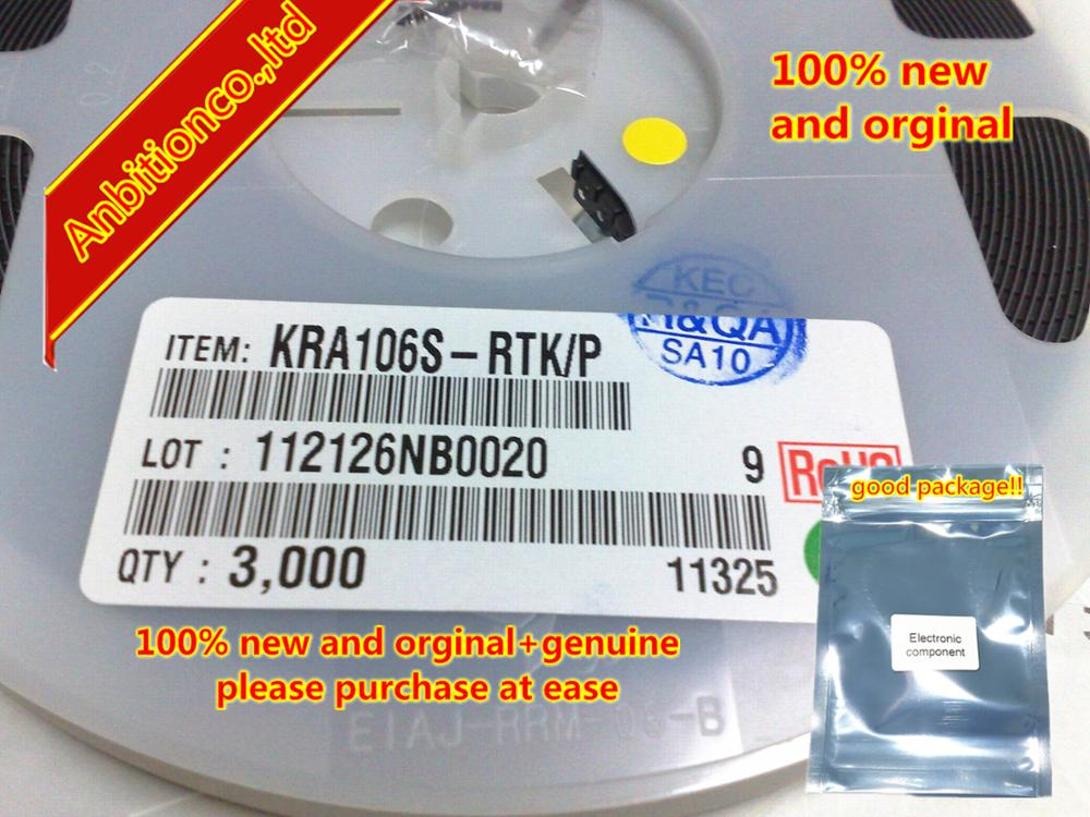 10pcs 100% New And Orginal KRA106S SOT-23 EPITAXIAL PLANAR PNP TRANSISTOR (SWITCHING, INTERFACE CIRCUIT AND DRIVER CIRC In Stock