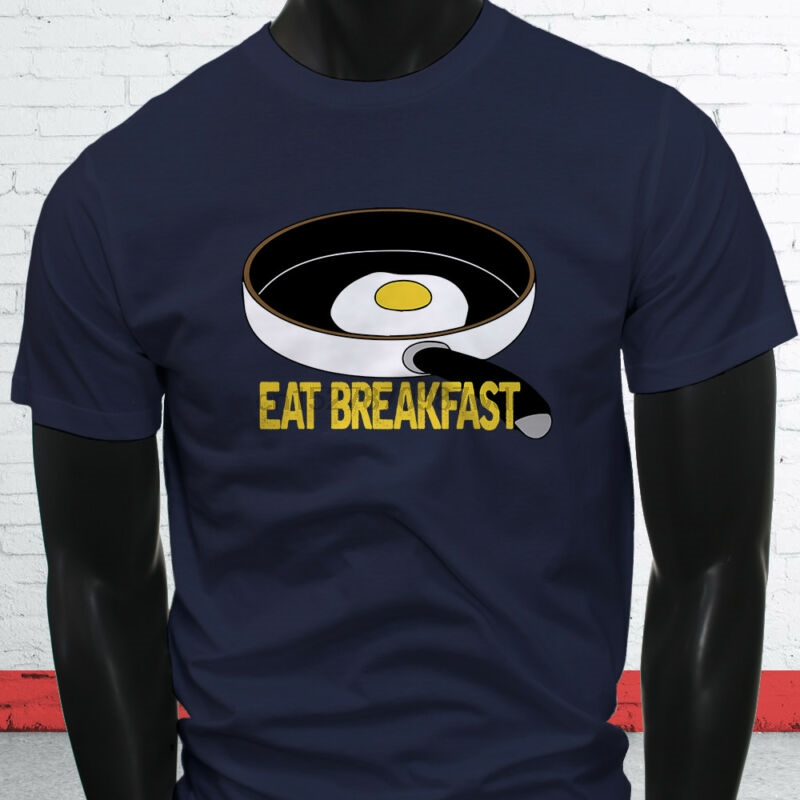 Us 11 99 Egg Brain Cooking Baked Oil Restaurants Food Eat Breakfast Mens Navy T Shirt In T Shirts From Men S Clothing On Aliexpress Com Alibaba